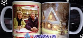 Ly sứ in hình bạn làm quà giáng sinh – Quà tặng Noel độc đáo